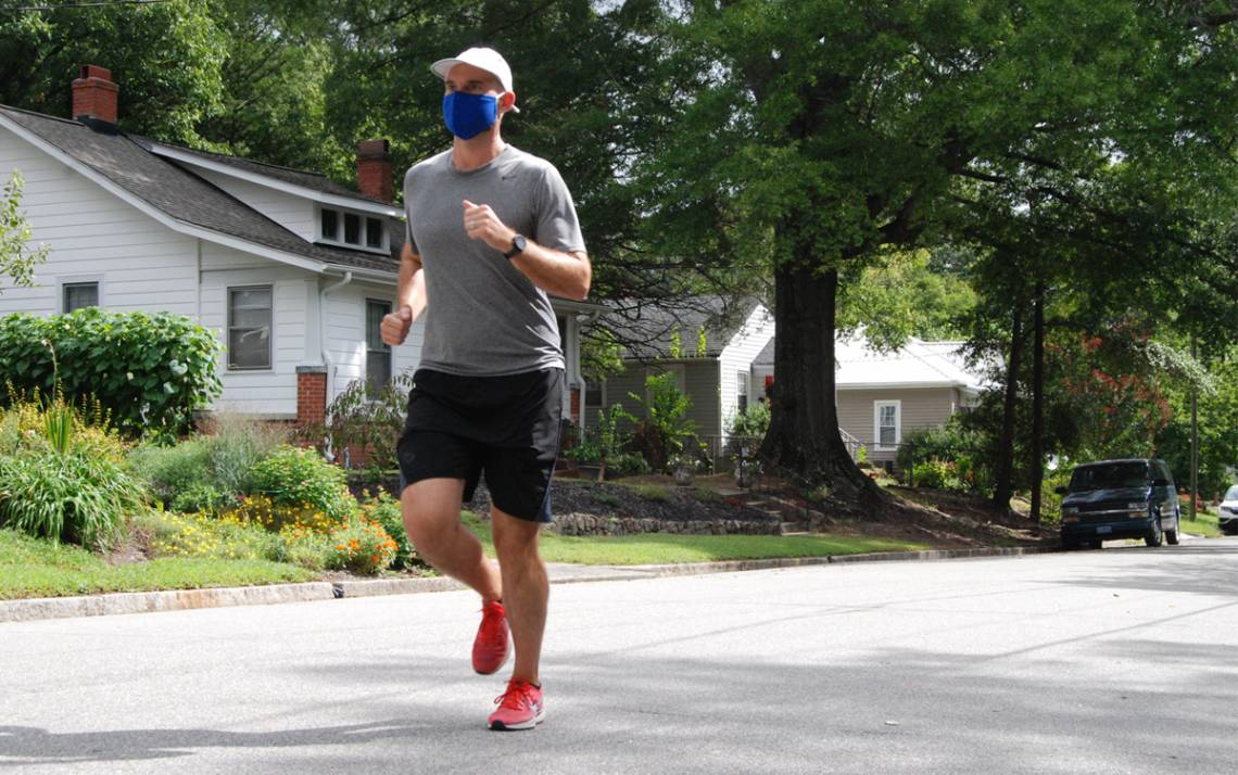 David Bradway, research scientist with Duke Biomedical Engineering, is attempting to run all of the streets in Durham. Photo by Stephen Schramm.