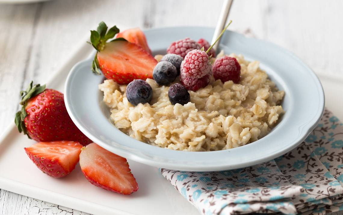 Oatmeal and fruit.