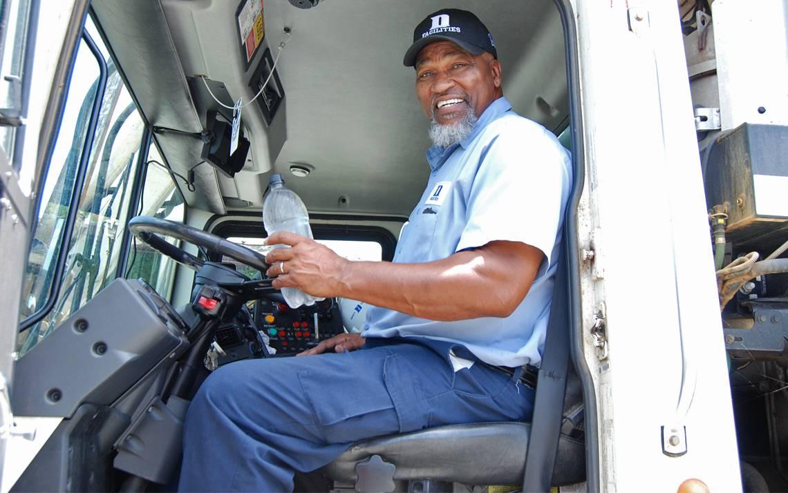 Buck King in his truck.