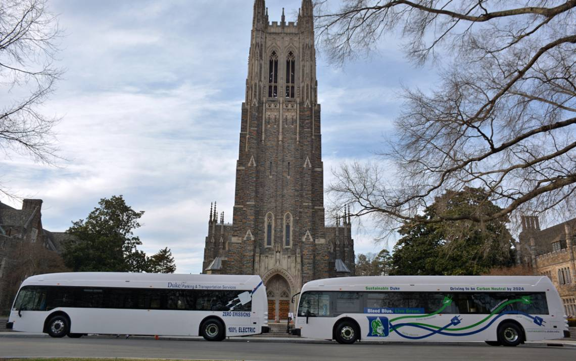 The new 40-foot Proterra ZX5 buses operate for about 200 miles on a single charge. Photos by Jonathan Black.