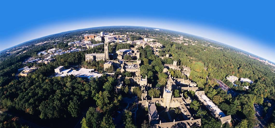 Duke University from above. Photo by Duke Photography