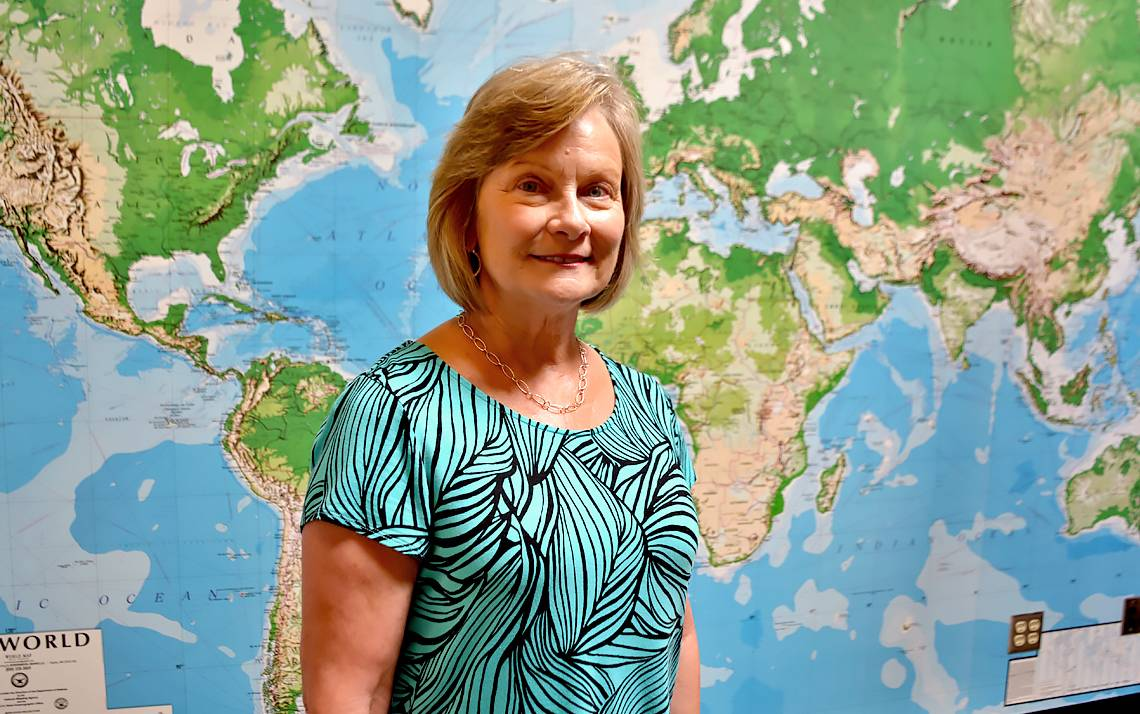 From her office in Smith Warehouse, Cathy Penny helps Duke students learn around the globe.