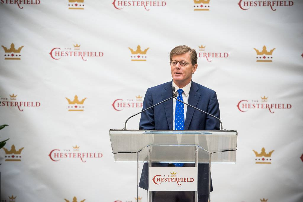 In remarks at the Chesterfield, President Vince Price outlined the value of Duke's investment in the Durham downtown.