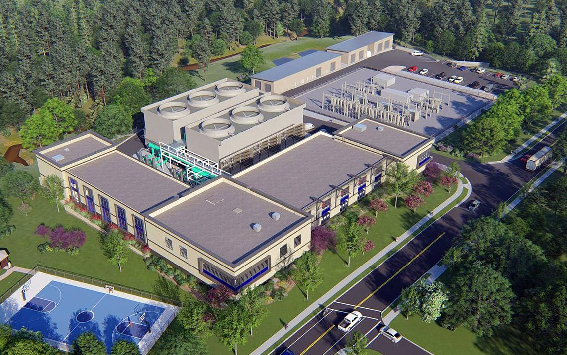 Chiller Plant No. 3 will be located on Anderson Street and is expected to be completed in late 2020. Rendering courtesy of Duke Facilities Management.