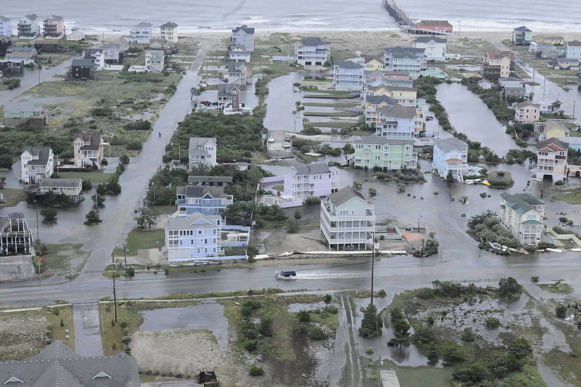 Flooding caused by Hurricane Arthur on the Outer Banks of North Carolina, July 4, 2014