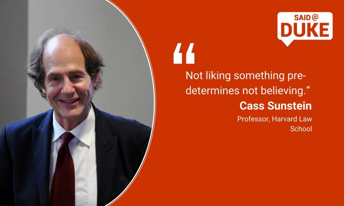 Cass Sunstein on divided democracy