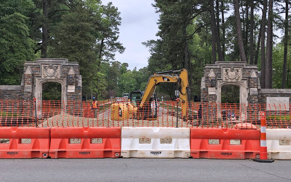 Construction on campus.