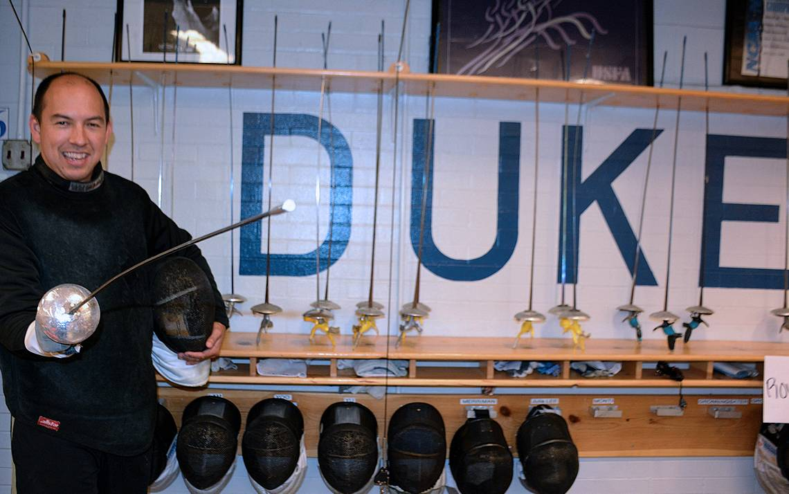 Blue Devil of the Week: En Garde with Fencing Coach Darius Wei. Duke's assistant fencing coach keeps athletes on point.