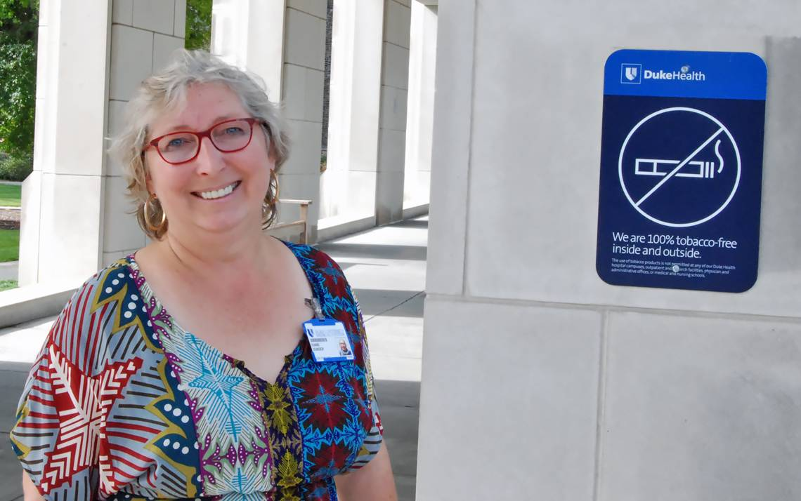 Tobacco Cessation Support Specialist Diane Dunder is there for Duke employees who use tobacco when they decide they're ready to quit.