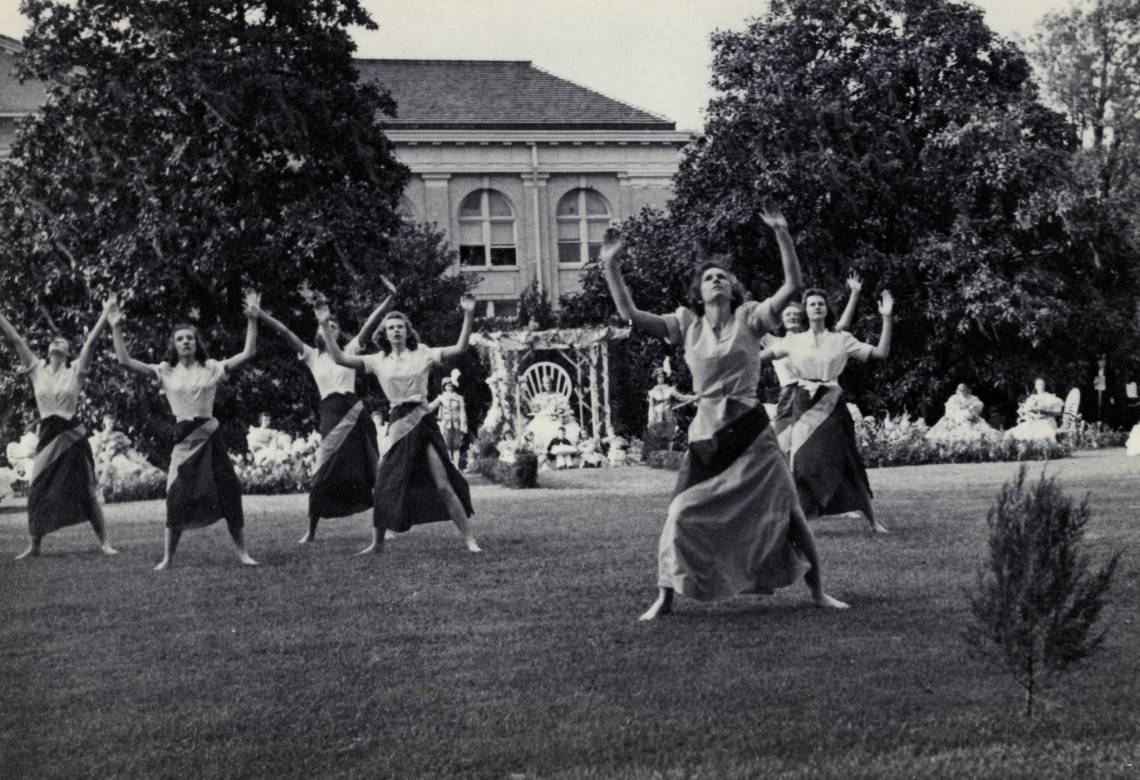 An undated May Day celebration at Duke. Photo courtesy Duke University Archives