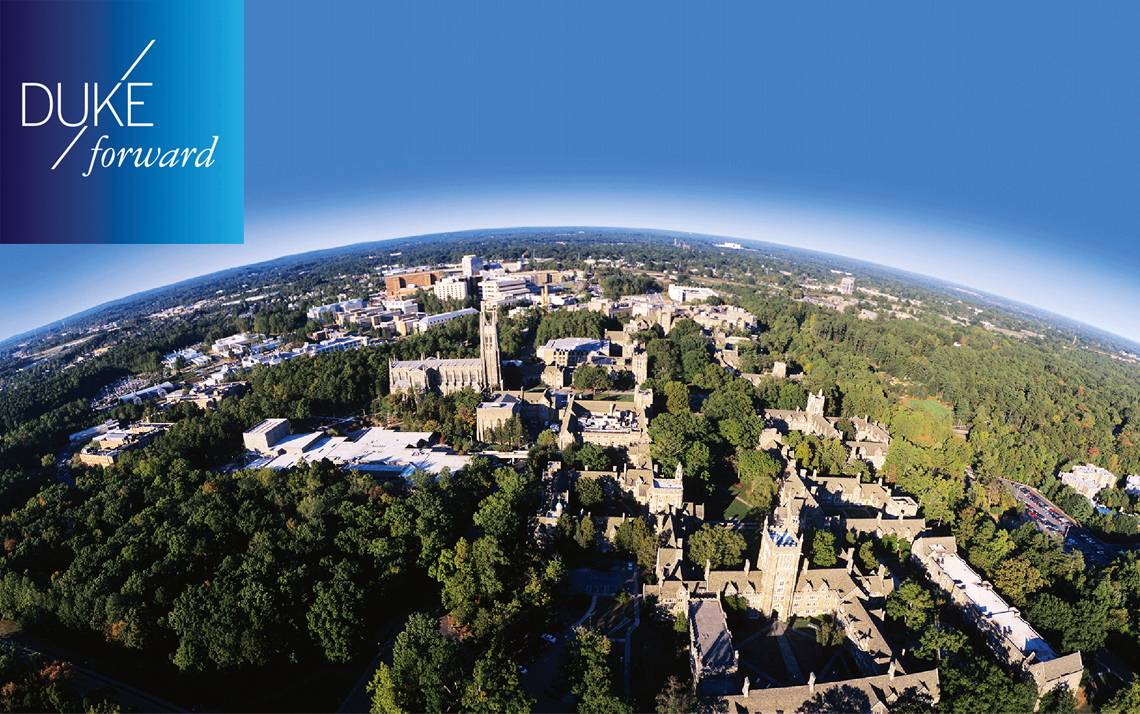View of Duke from the sky.