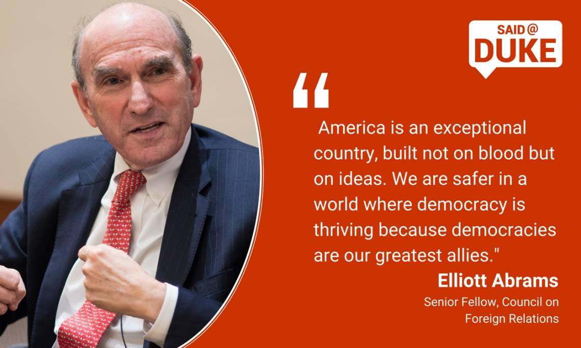 Elliott Abrams: America is an exceptional country, but on not blood but on ideas