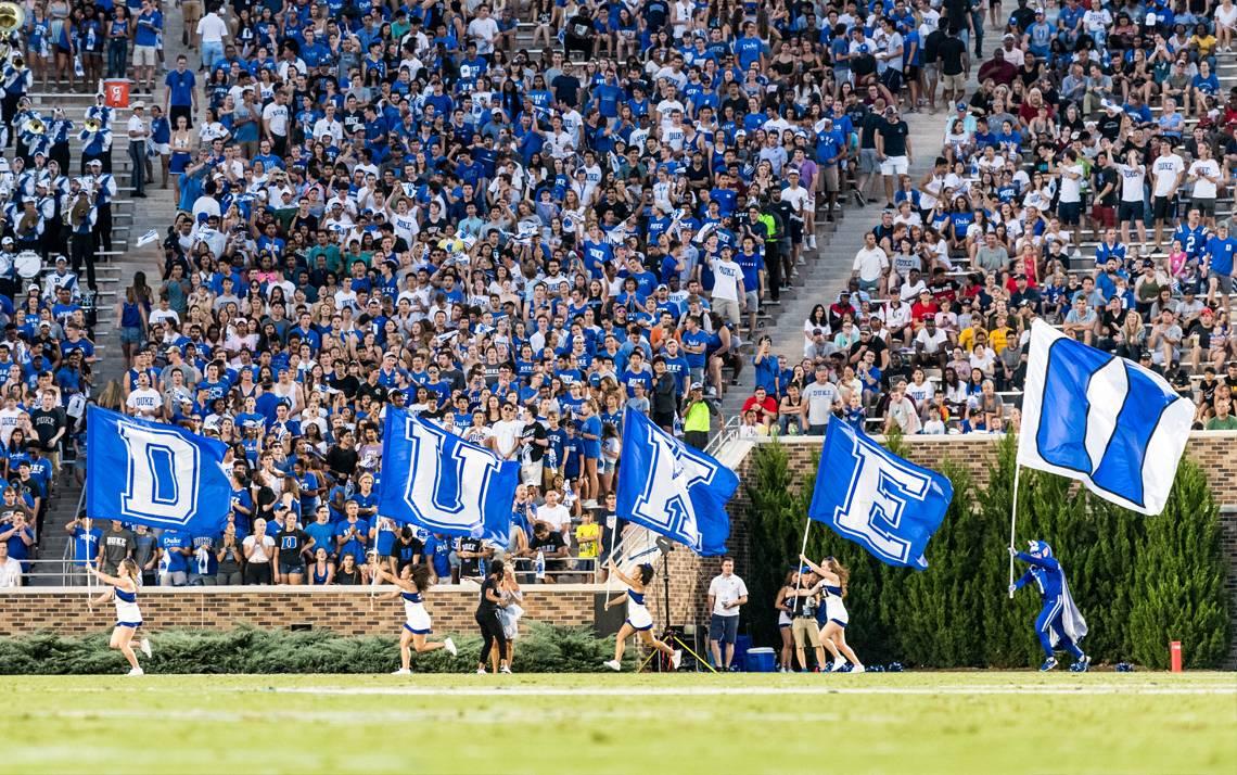 Duke fans cheer on the Blue Devils during on of last season's home games. Photo courtesy of Duke Athletics.