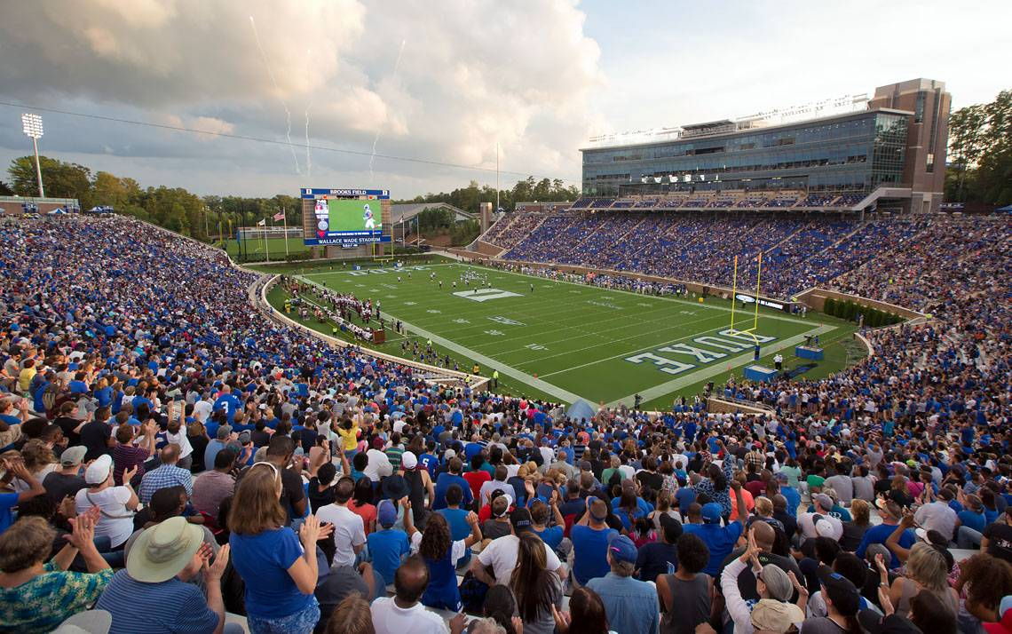 Duke opened the 2017 football season at Brooks Field at Wallace Wade Stadium with a 60-7 win against North Carolina Central, which was preceded by the 2017 Employee Kickoff Celebration.