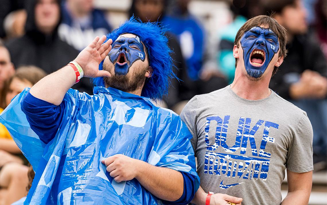 For as little as $13, Duke employees can cheer on the Blue Devils in their final regular season home game. Photo courtesy of Duke Football.