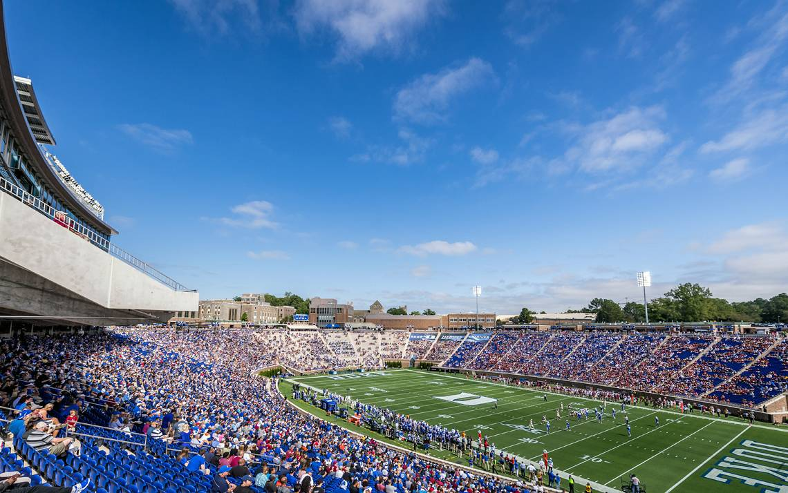 The Duke Football Employee Kickoff Celebration returns to Brooks Field at Wallace Wade Stadium on Saturday.