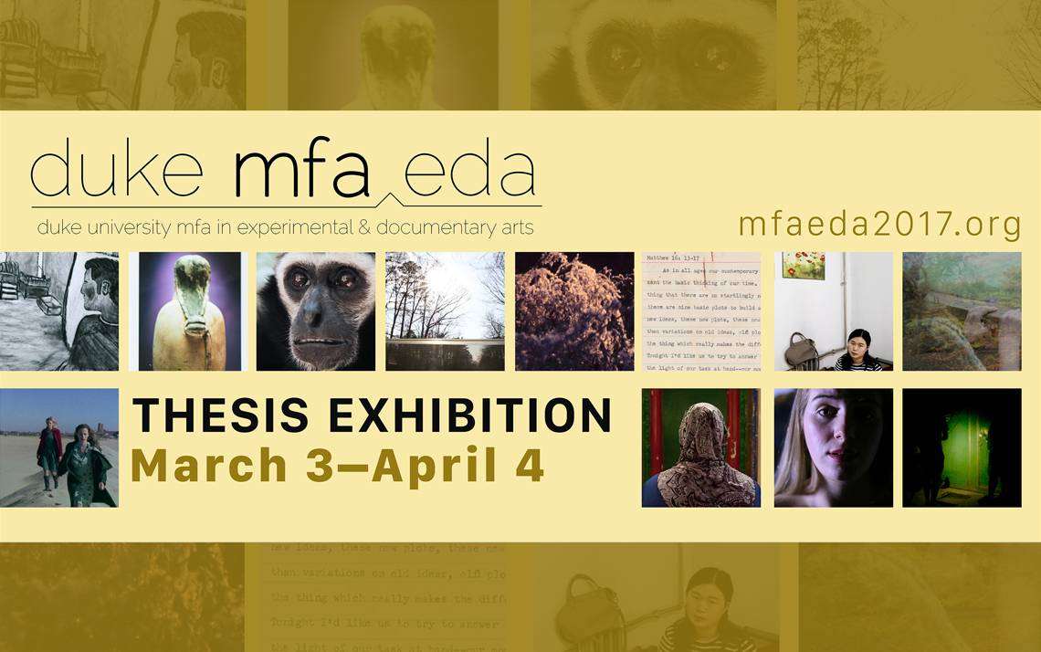 This Friday, the MFA|EDA programs kicks off its thesis shows at the Power Plant Gallery with a reception and screening.