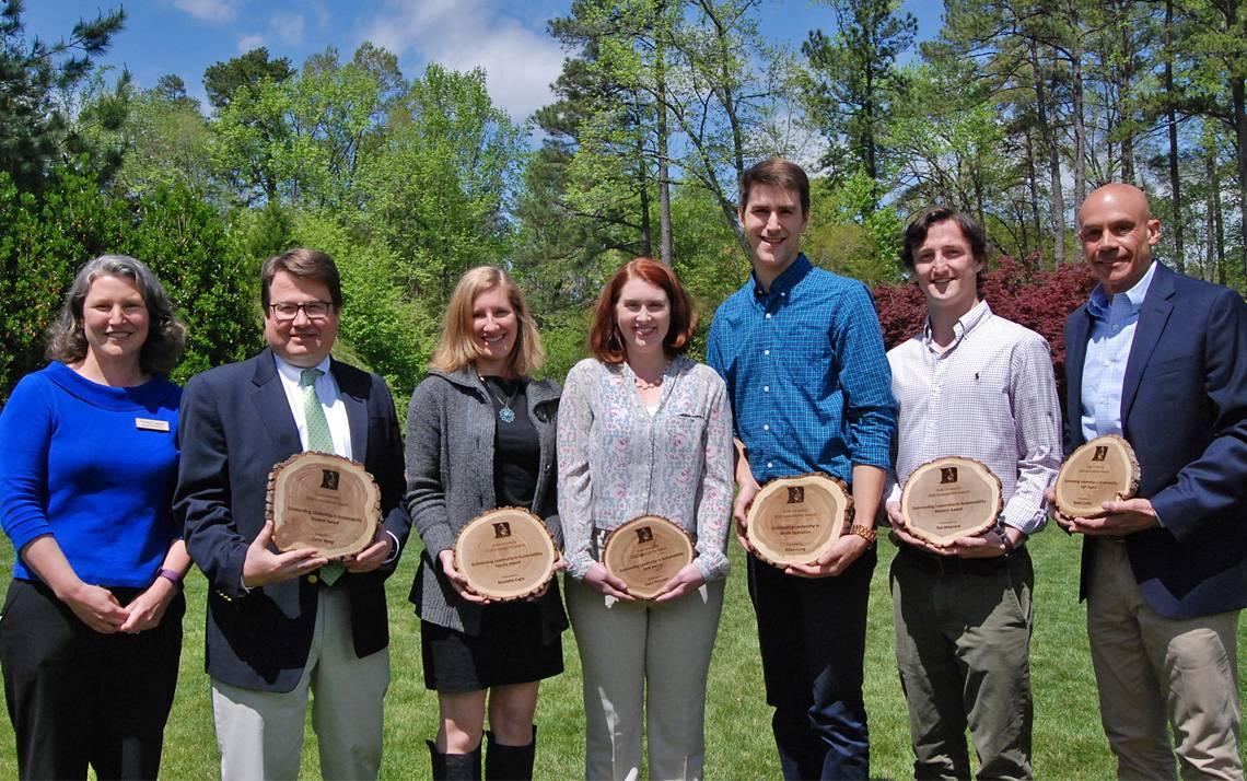 Last year's Sustainability Award winners.