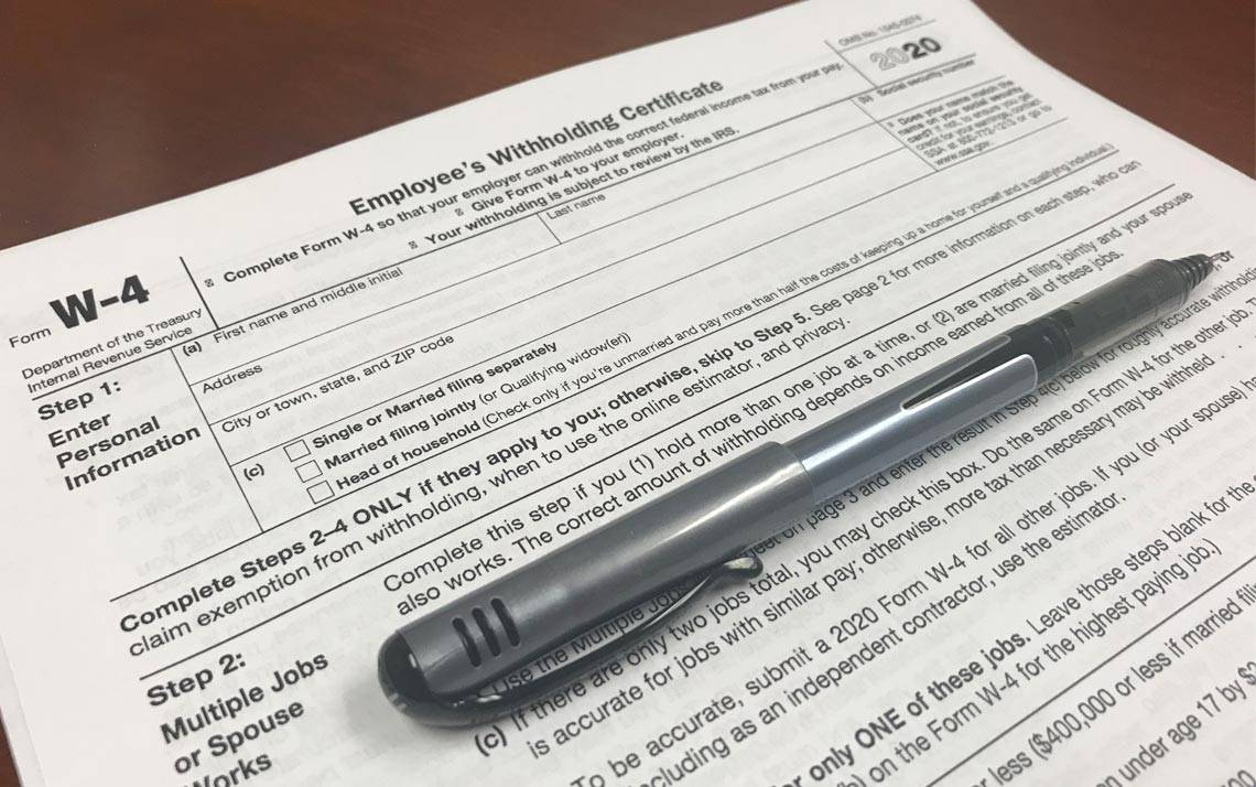 IRS Form W4 for 2020