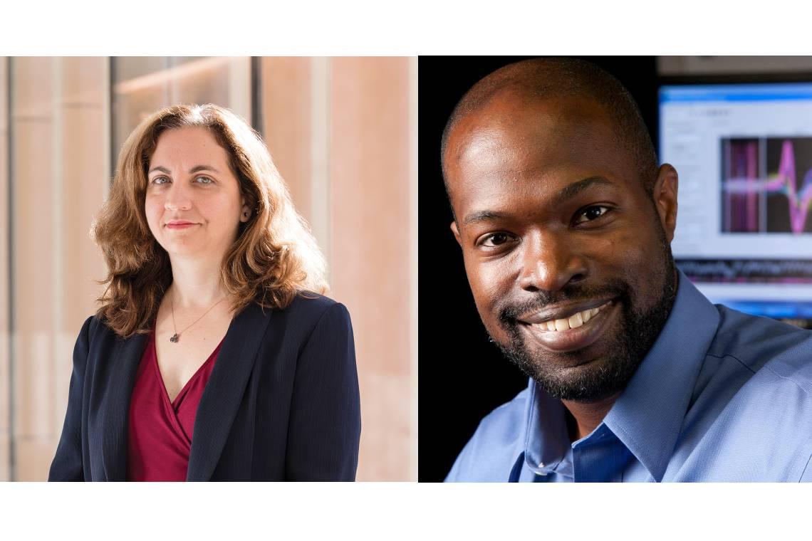 Cagla Eroglu (left) and Kafui Dzirasa are Duke's two newest Howard Hughes Medical Institute Investigators.