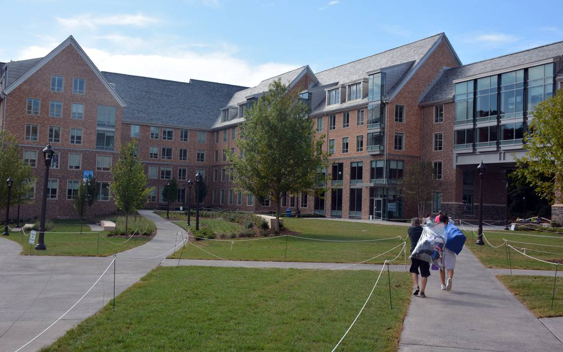 The Hollows Quad opened to 703 students in August. Photos by Jonathan Black.