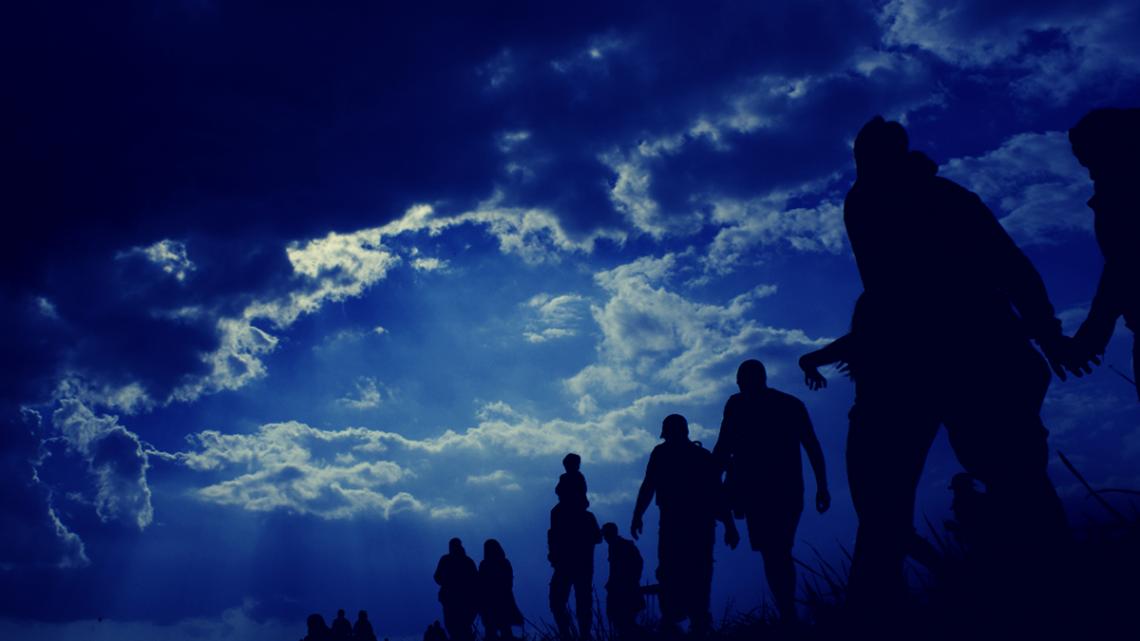 photo of migrants in Honduras