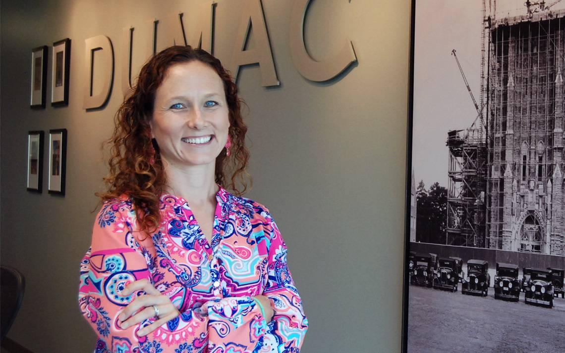 Jennifer Dimitri at DUMAC office.