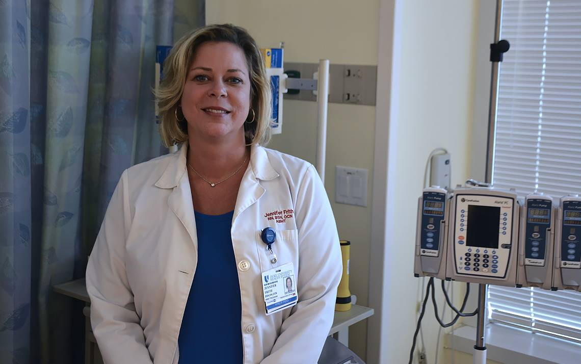 Jennifer Frith worked as a traveling nurse for 10 years before making Duke the last stop.