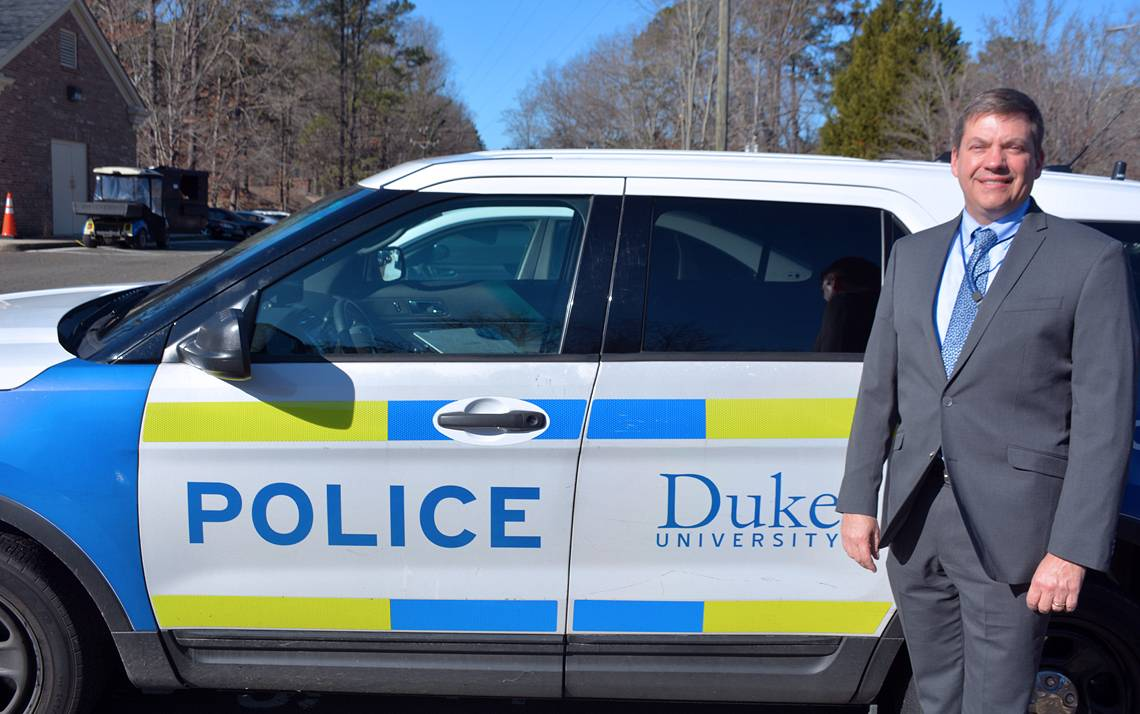 John Dailey, chief of Duke University Police Department, oversees about 150 police and security officers.