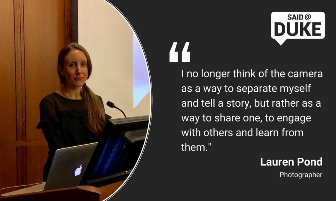 Lauren Pond on sharing stories through photography