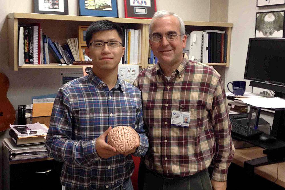 Len White and a student from China who sought White out after taking his MOOC course.