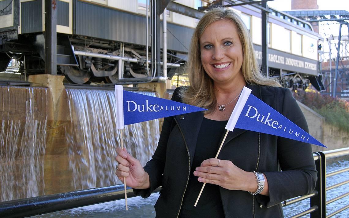 Blue Devil of the Week Lisa Weistart helps keep Duke alums' ties to their school strong.