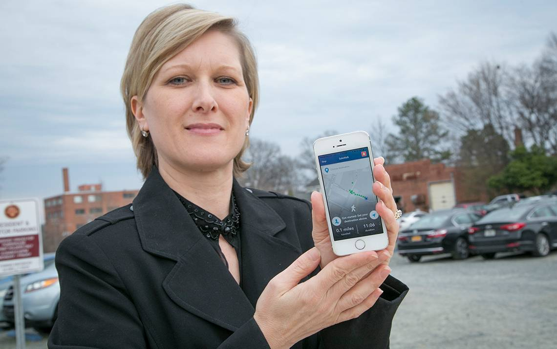 Terra Ylizarde uses Duke's free safety app, LiveSafe.