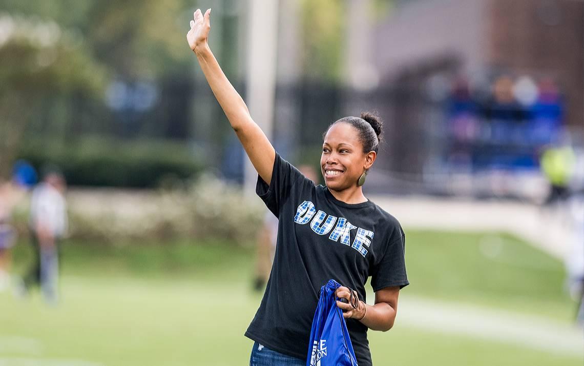Lola Martin was last season's Honorary Employee Captain at the Duke Football Employee Kickoff Celebration.