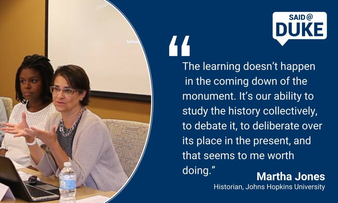 Martha Jones on monuments and the need to study history