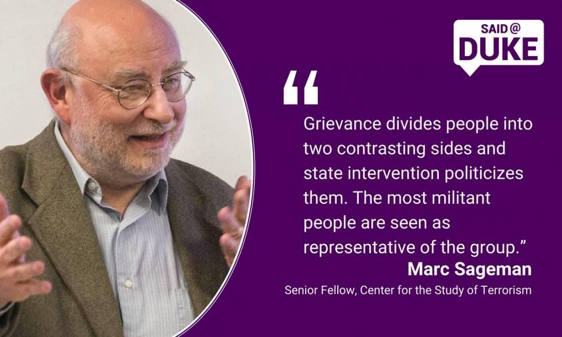 Marc Sageman: Grievance Divides People