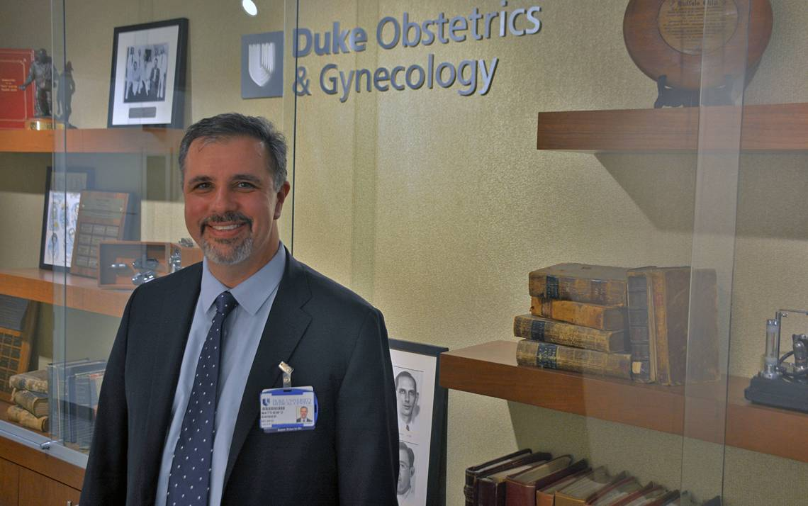 Matthew Barber serves as the chair of the Department of Obstetrics & Gynecology. Photo by Jonathan Black.