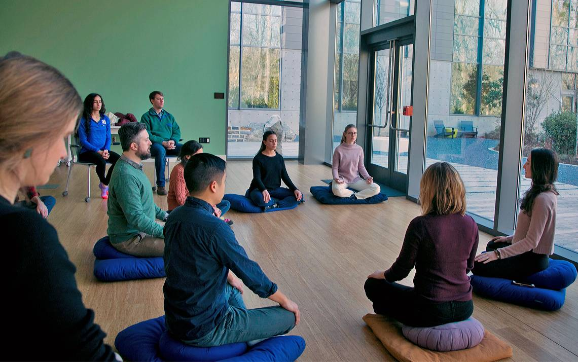 The Duke Student Wellness Center hosts weekly meditation classes. Photo courtesy of University Communications.