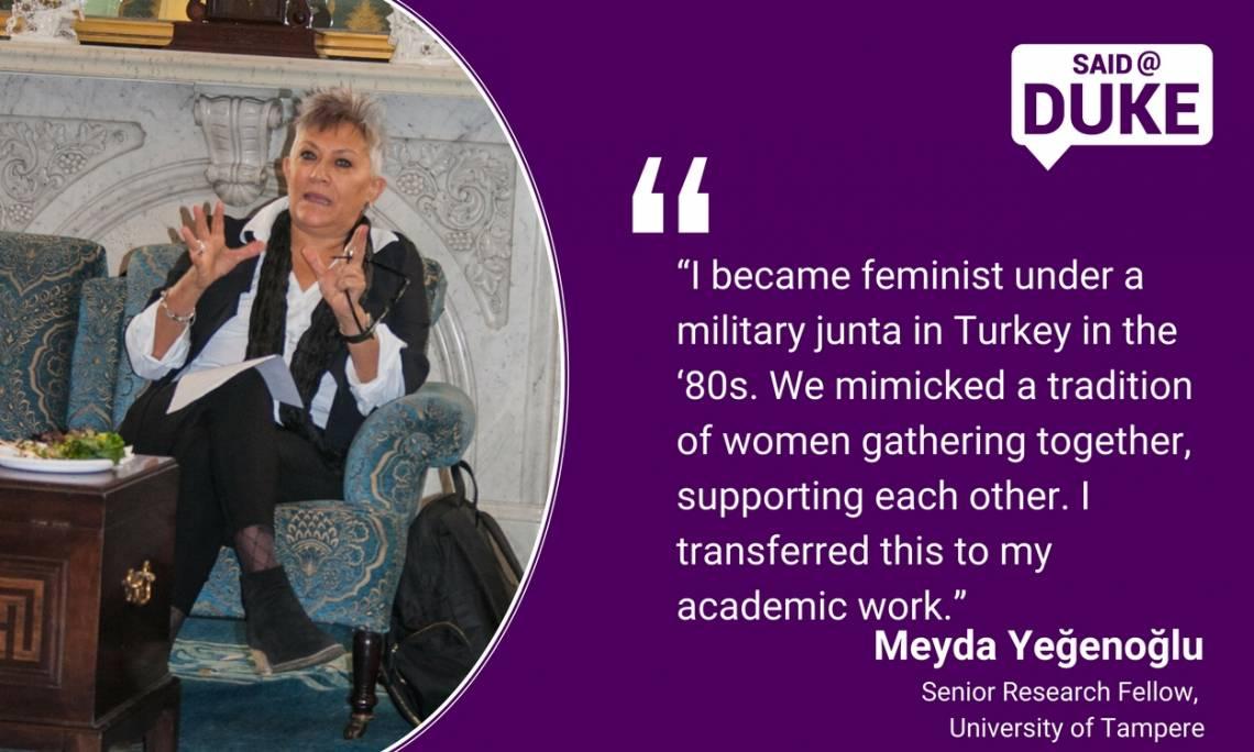 Meyda Yeğenoğlu: I became a feminist while living under a military junta in Turkey in the 1980s
