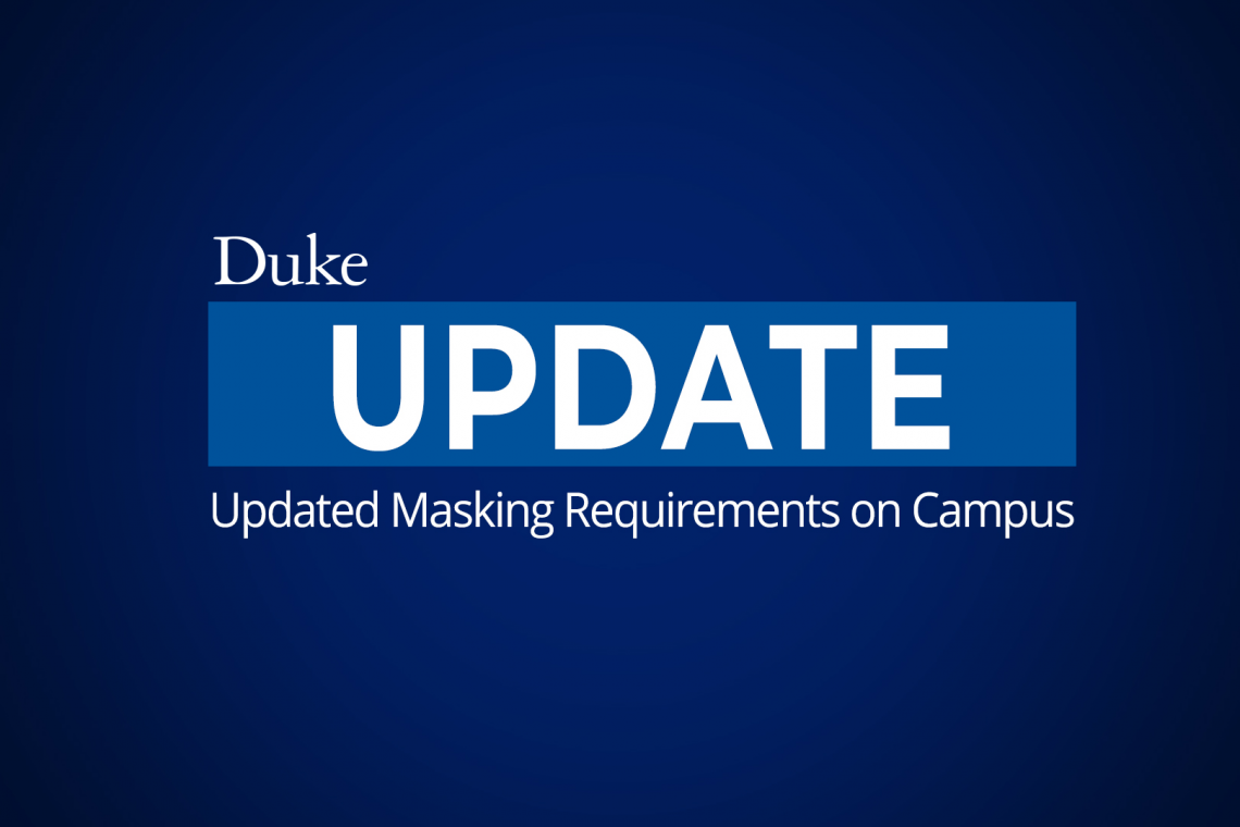 graphic: Updated Masking Requirements on Campus