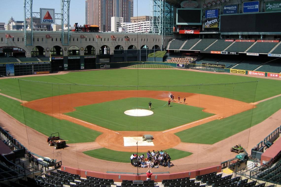 Minute Maid Park, the baseball stadium in Houston