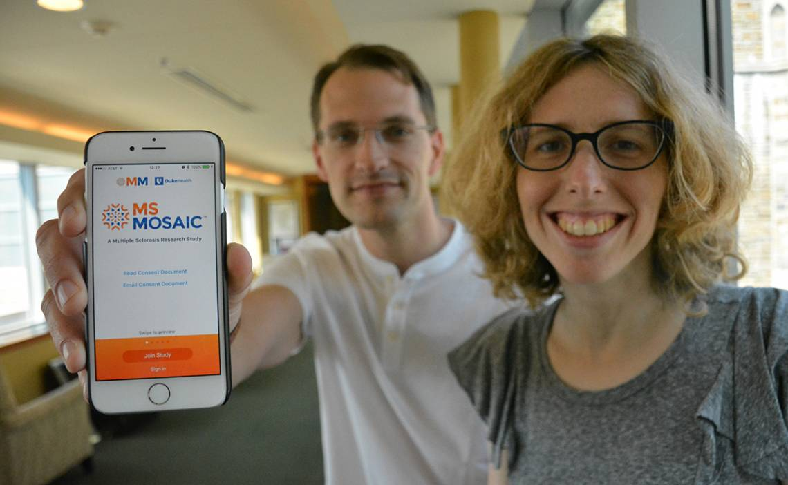 With an iPhone app called MS Mosaic, people living with MS can track how they're doing between doctor's visits, uncover patterns and share their information with their healthcare team.