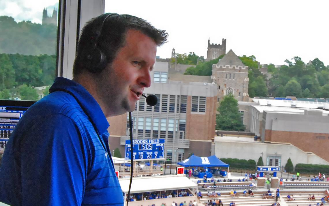 David Shumate provides the radio play-by-play call for Duke's football victory against Baylor.