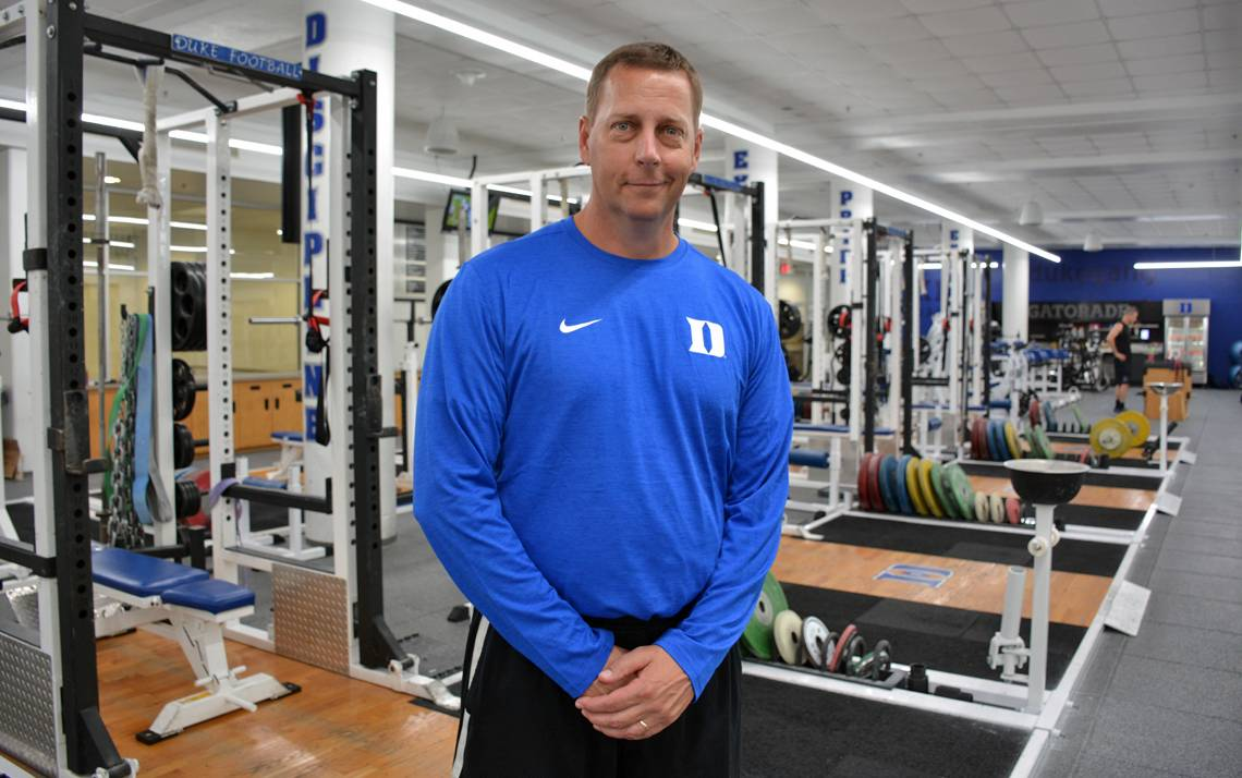 Noel Durfey is the Associate Director of Sports Performance/Head Football Sports Performance Coach. Photo by Bryan Roth.