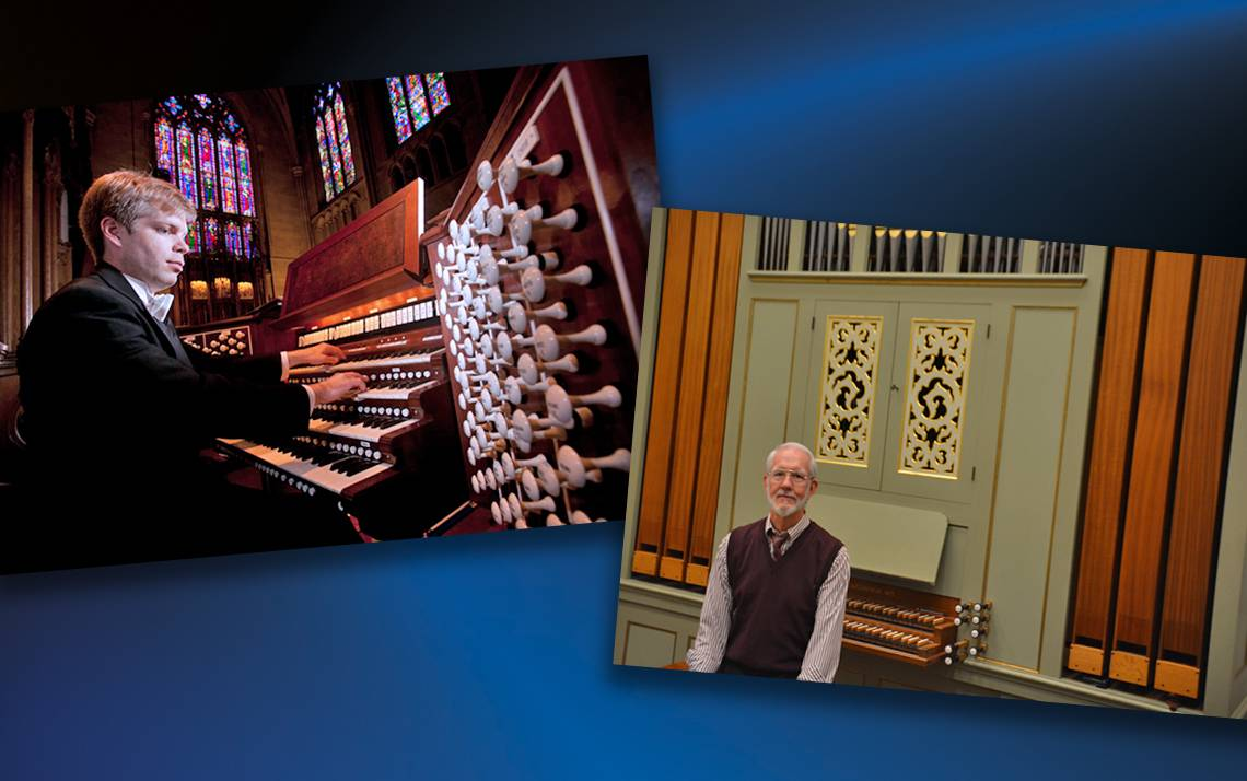 Christopher Jacobson and Robert Parkins play Duke Chapel's three organs.