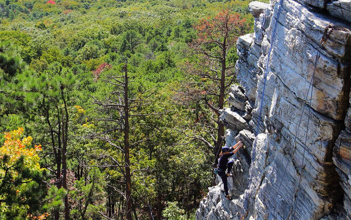 Duke Recreation & Physical Education offers a variety of land and water-based activities, including rock climbing, for Duke faculty, staff and students. Photo courtesy of Duke Recreation.