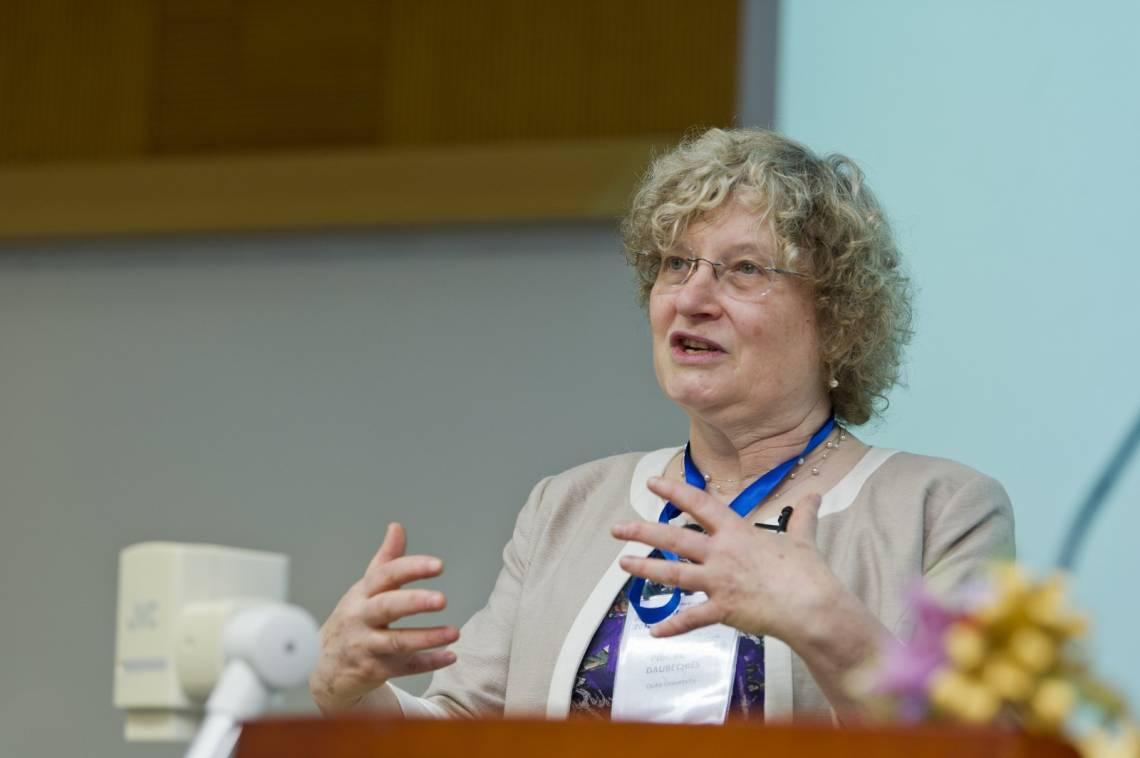 Ingrid Daubechies, James B. Duke Professor of Mathematics and Electrical and Computer Engineering at Duke University, has been awarded a $100,000 William Benter Prize in Applied Mathematics.