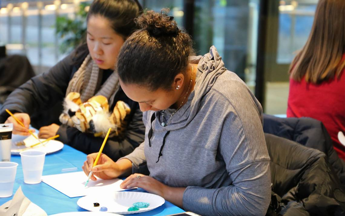 Paint Night is a new addition to the Student Wellness Center mindfulness activities. Photo courtesy of the Student Wellness Center.