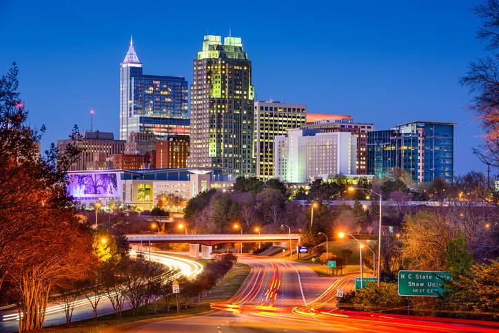 The Raleigh skyline