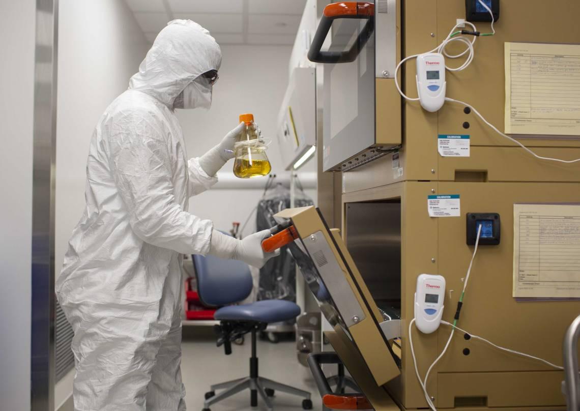 A scientist in the Duke Human Vaccine Institute (Shawn Rocco, Duke Health)
